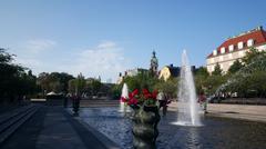 Fountain in Kungsträdgården Stock Photos