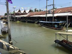 Amphawa floating market Stock Photos