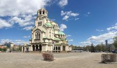 Panorama from the St. Alexander Nevsky Cathedral Stock Photos