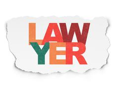 Law concept: Lawyer on Torn Paper background - stock illustration
