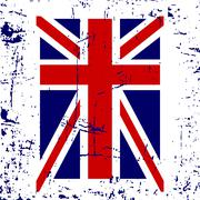 British flag t shirt typography graphic Stock Illustration