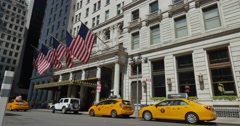 Day Exterior Plaza Hotel in Midtown Manhattan  	 Stock Footage