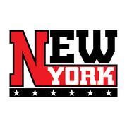 T shirt typography stars New York city - stock illustration