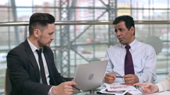 Working Together on Financial Report - stock footage