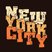 T shirt typography graphics New York Athletic style NYC - stock illustration