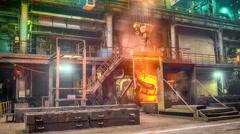 Casting ferroalloy factory Stock Footage