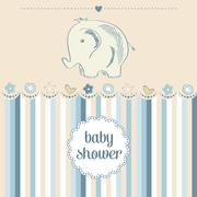 Baby boy shower card Piirros