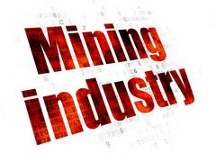 Industry concept: Mining Industry on Digital background Piirros