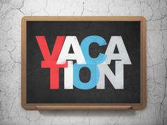 Entertainment, concept: Vacation on School board background Stock Illustration