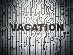 Entertainment, concept: circuit board with Vacation - stock illustration