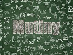 Political concept: Mutiny on School board background - stock illustration