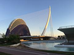 Agora and the Assut de l'Or Bridge panorama - stock photo