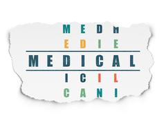 Medicine concept: Medical in Crossword Puzzle - stock illustration