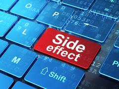 Medicine concept: Side Effect on computer keyboard background - stock illustration