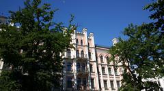 Art Nouveau apartment buildings Stock Photos
