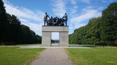 The Clan monument Stock Photos