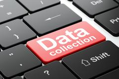 Data concept: Data Collection on computer keyboard background Stock Illustration