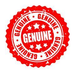 Vector illustration round stamp GENUINE Stock Illustration