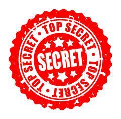 Vector illustration round stamp TOP SECRET Stock Illustration