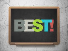 Business concept: Best! on School board background Stock Illustration