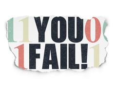 Finance concept: You Fail! on Torn Paper background Stock Illustration