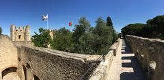 Castelo de S. Jorge panorama Stock Photos