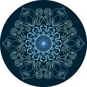 Mandala ornament design Stock Illustration