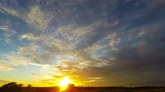 Winter Country Sunset Australia Stock Footage