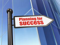 Business concept: sign Planning for Success on Building background Piirros