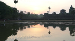 Angkor Wat Just Prior To Sunrise Stock Footage
