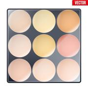 Colourful of Make Up Palette Stock Illustration