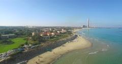 Beach resort- Aerial Shot Stock Footage