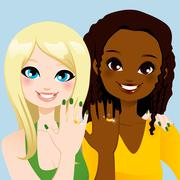 Forever Friends Ring - stock illustration