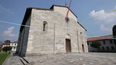 In italy brebbia ancient religion building for catholic. Stock Footage