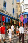 TUNIS, TUNISIA - August 29, 2007. Street life in Tunis. Square in Medina, old Stock Photos