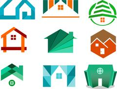 Logo illustration real estate agency for architecture Stock Illustration