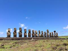Ahu Tongariki Moai - stock photo