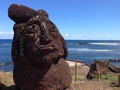 Moai in Hanga Roa Stock Photos