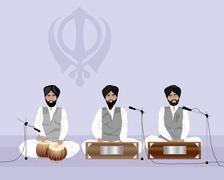 Sikh music Stock Illustration