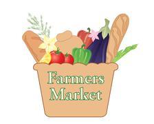 Farmers market Piirros
