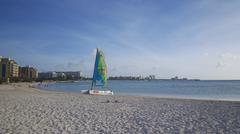 Aruba hotel skyline - stock photo