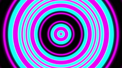 Cyan and Magenta Solid Circle Ripple Stock Footage