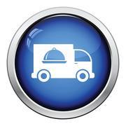 Delivering car icon - stock illustration