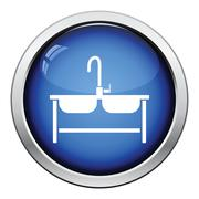 Double sink icon Stock Illustration
