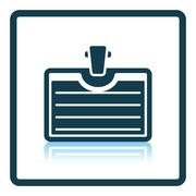 Icon of Badge with clip Stock Illustration