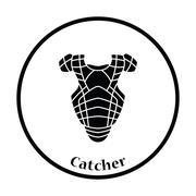 Baseball chest protector icon Stock Illustration