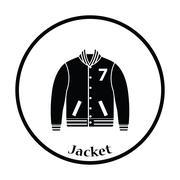 Baseball jacket icon Stock Illustration