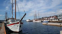 Harbor Of Oslo Norway - stock photo