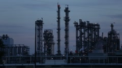 Refinery at Dusk Stock Footage