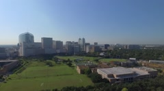 Aerial of Rice University and The Texas Medical Center in Houston, Texas Stock Footage